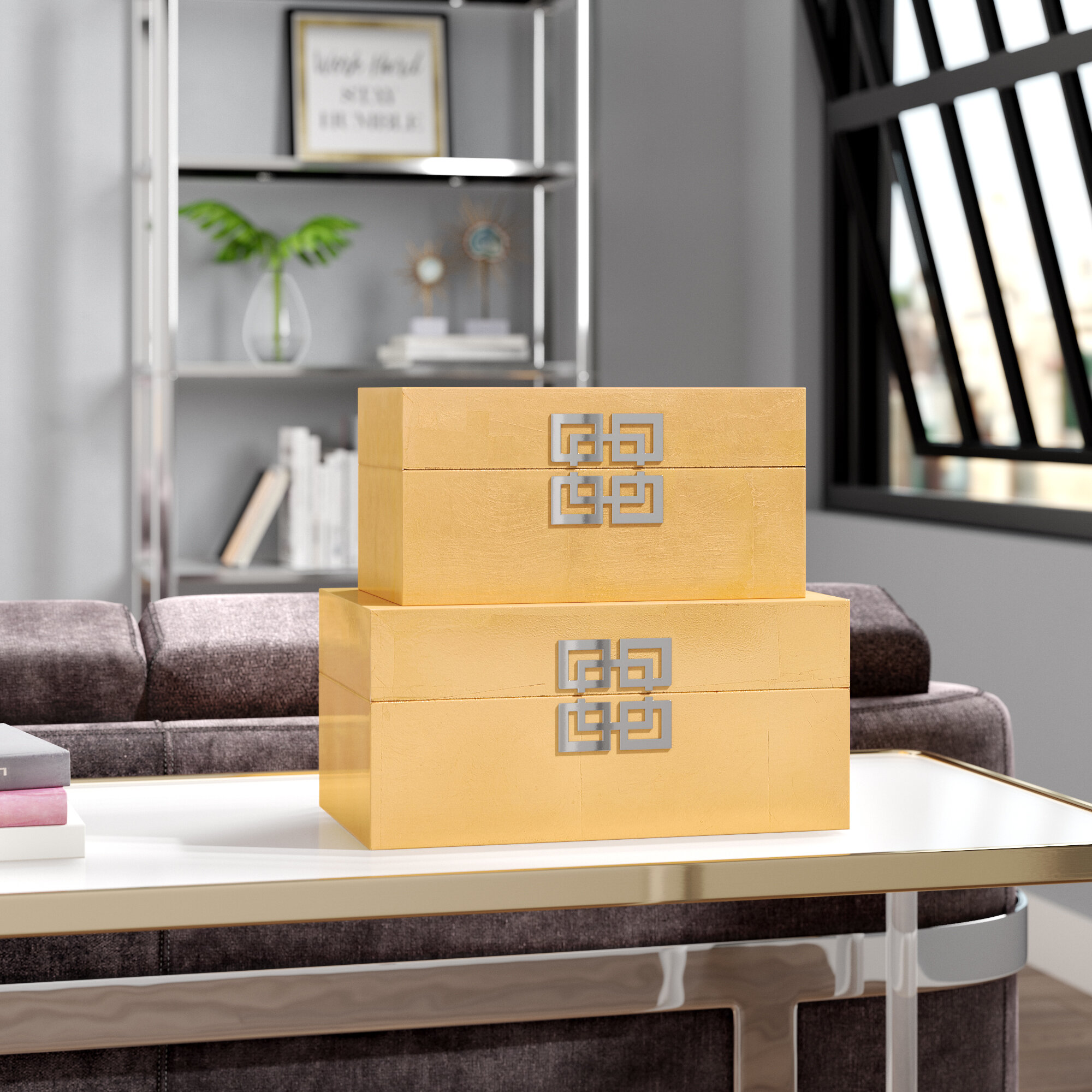 Willa Arlo Interiors Leach 2 Piece Decorative Box Set & Reviews ...