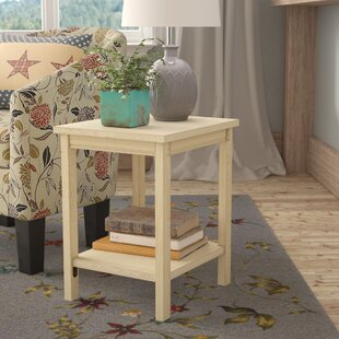 Lynn Wood End Table By Mistana
