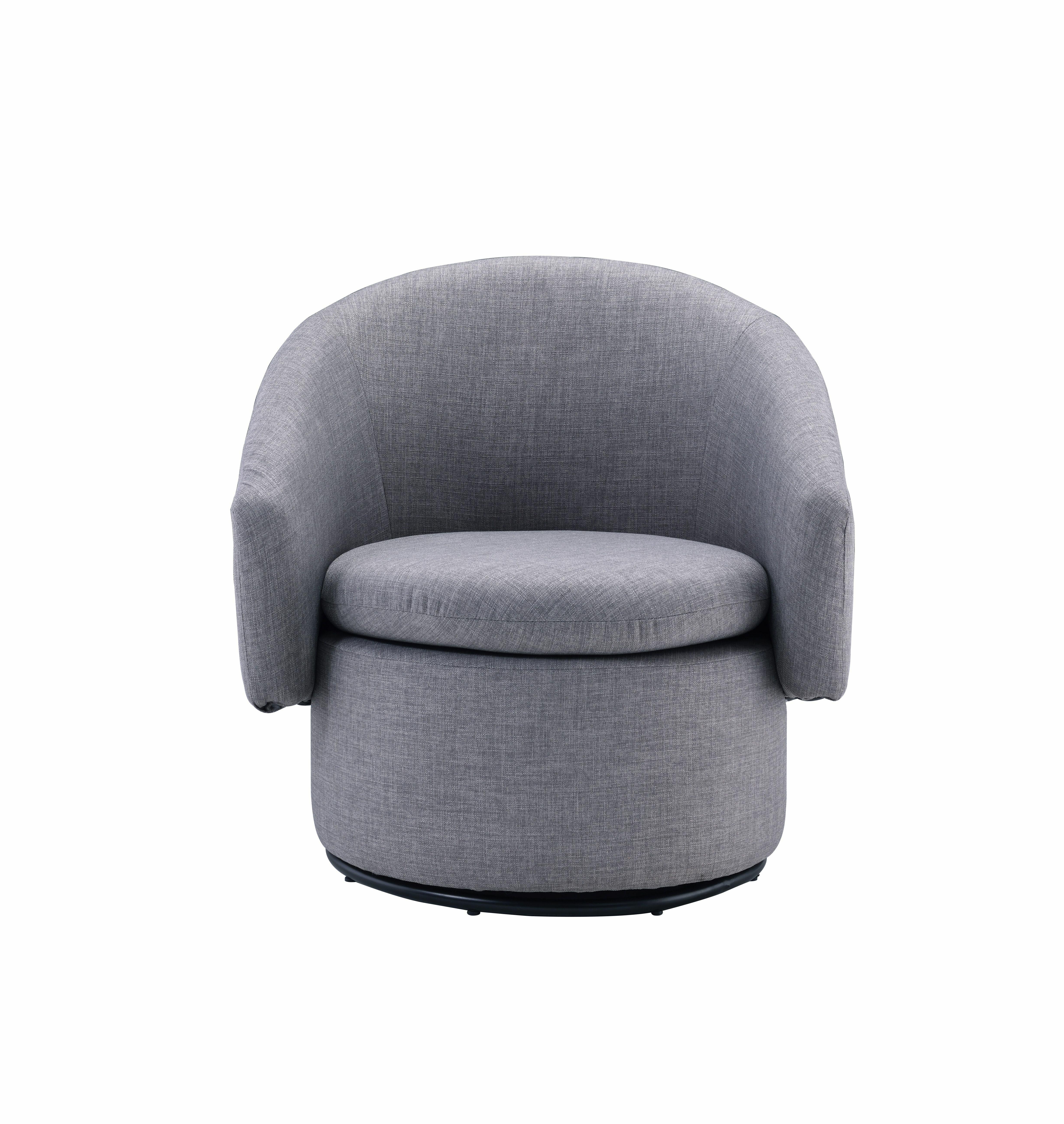 Picture of: Everly Quinn Woodall Swivel Barrel Chair Wayfair