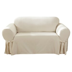 Cotton Duck Box Cushion Sofa Slipcover by Sure Fit