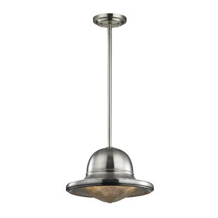 Williston Forge Crase 1-Light Bell Pendant