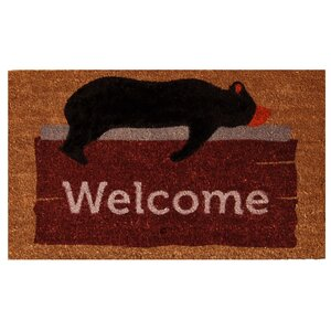 Lazy Bear Welcome Doormat