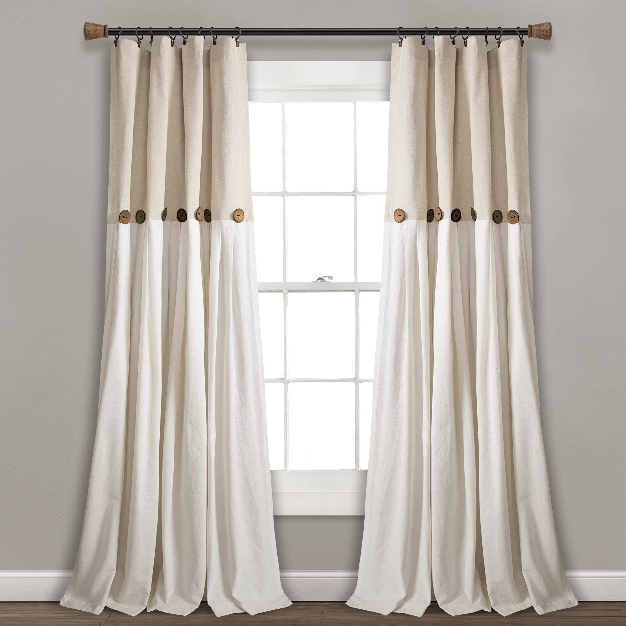 Gracie Oaks Ruya Window Semi Sheer Rod Pocket Single Curtain Panel Reviews Wayfair