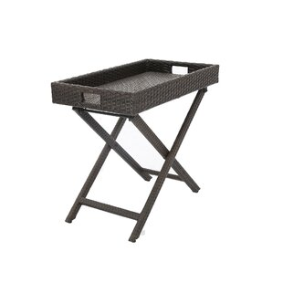 Keffer Extendable Wicker Side Table