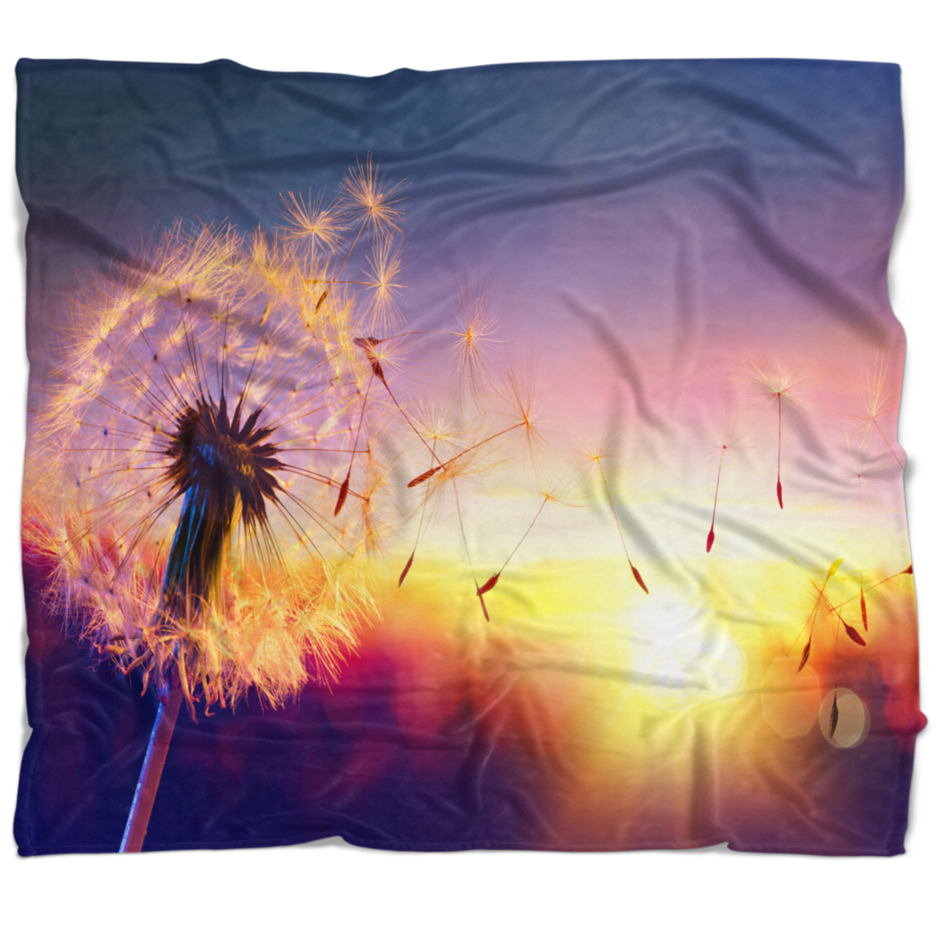 East Urban Home Dandelion At Sunset Freedom To Wish Blanket Wayfair