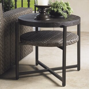 Blue Olive Steel Side Table