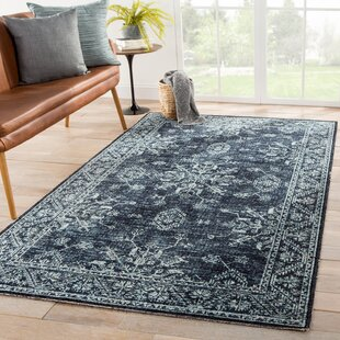 Jamestown Medallion Blue/Black Indoor/Outdoor Area Rug