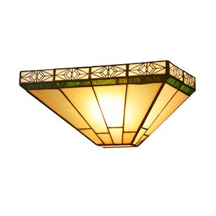 Reviews Seth Tiffany 1-Light Flush Mount By Millwood Pines