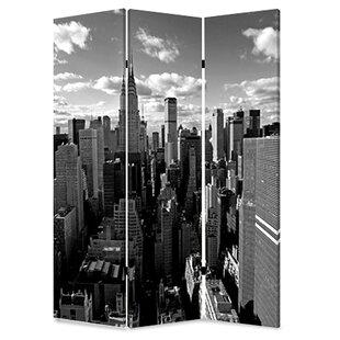 72 X 48 New York Skyline 3 Panel Room Divider