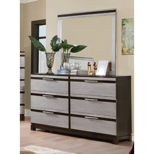 Dowd 6 Drawer Double Dresser with Mirror