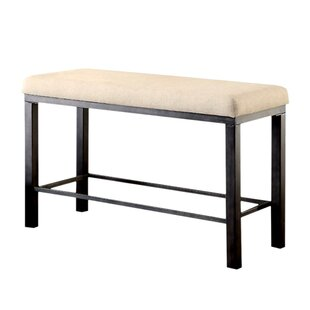 Carolos Industrial Wood Bench