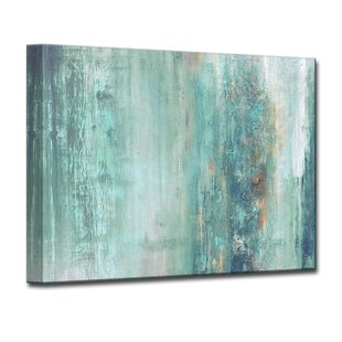 U0027Abstract Spau0027 Framed Graphic Art Print On Canvas In Aqua/Blue