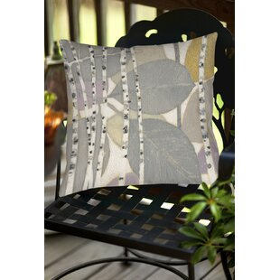Birch Leaf Indoor/Outdoor Throw Pillow by Manual Woodworkers & Weavers No Copoun