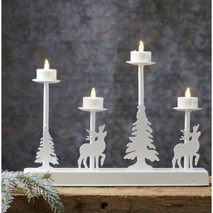 4-Light White Lamp By The Seasonal Aisle