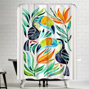 East Urban Home Toucans Shower Curtain