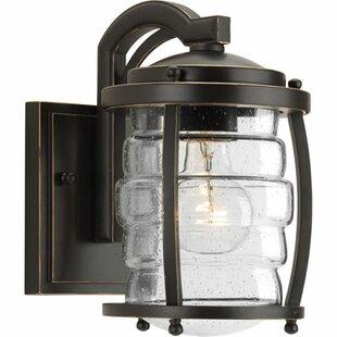 Best Reviews Celestine 1-Light Outdoor Wall Lantern By Loon Peak
