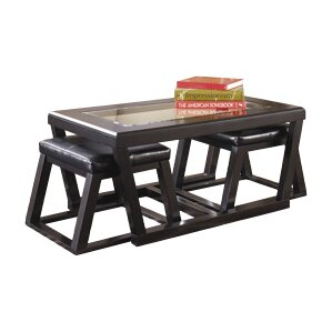 Preston Coffee Table With 2 Nested Stool