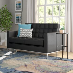Shop For Pyron Leather Loveseat by Latitude Run Reviews (2019) & Buyer's Guide