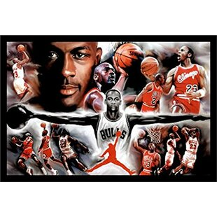 'Michael Jordan - Collage Open Arms' Framed Photographic Print by Buy Art For Less