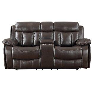 Poplin Leather Reclining Sofa by DarHome Co