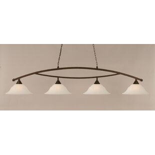 Fleur De Lis Living Blankenship 4-Light 150W Kitchen Island Pendant