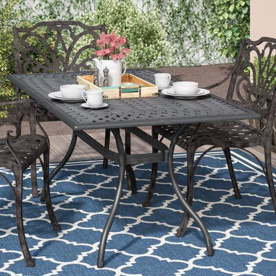 Agawam Metal Dining Table by Fleur De Lis Living Best Choices