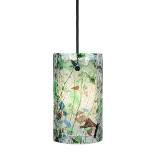 Metro Fusion Times 1-Light Cylinder Pendant by Meyda Tiffany