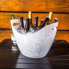 Color : White Wine Bucket Chiller Ice Bucket Wine Beer Party for 3L Acrylic White Ice Buckets Wine Coolers Wine Holder