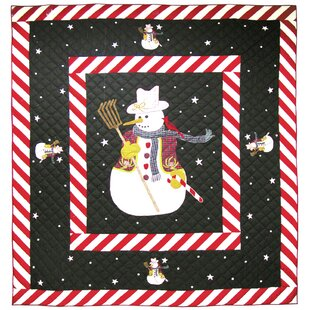 The Holiday Aisle Delancey Frosty Snowman Quilt
