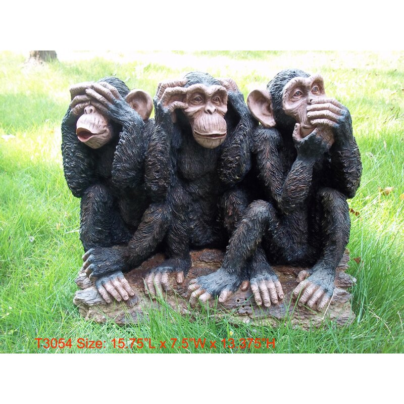 See/Hear/Speak No Evil Monkey Family Statue