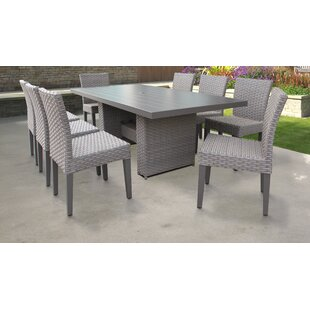 TK Classics Monterey 9 Piece Outdoor Patio Dining Set with Cushions
