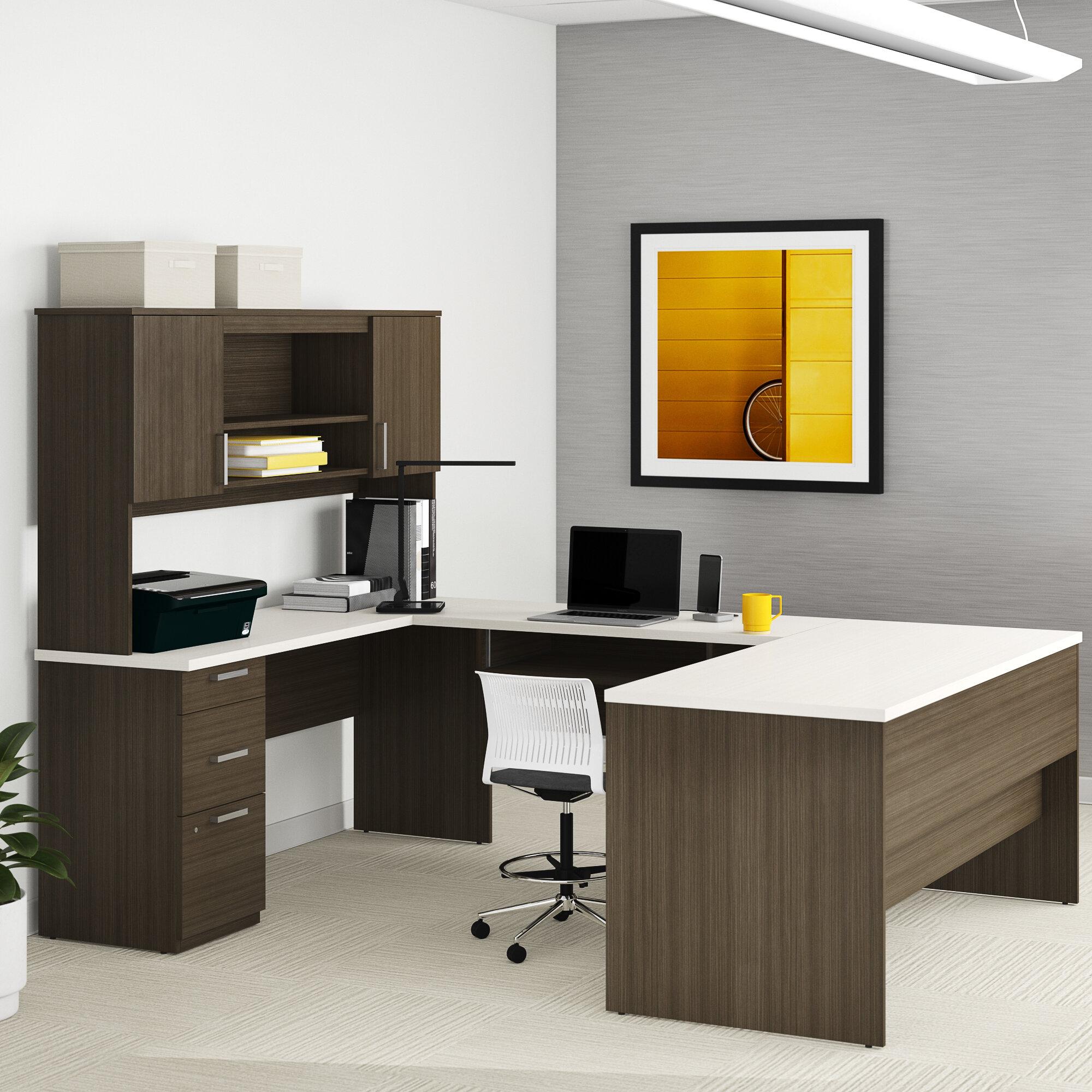 Holman Reversible U-Shape Executive Desk with Hutch