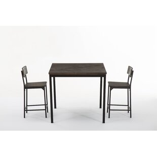 Bushman 3 Piece Pub Table Set