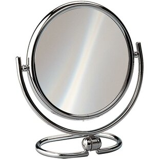 Charlton Home Housley Round Double-Sided Makeup/Shaving Mirror