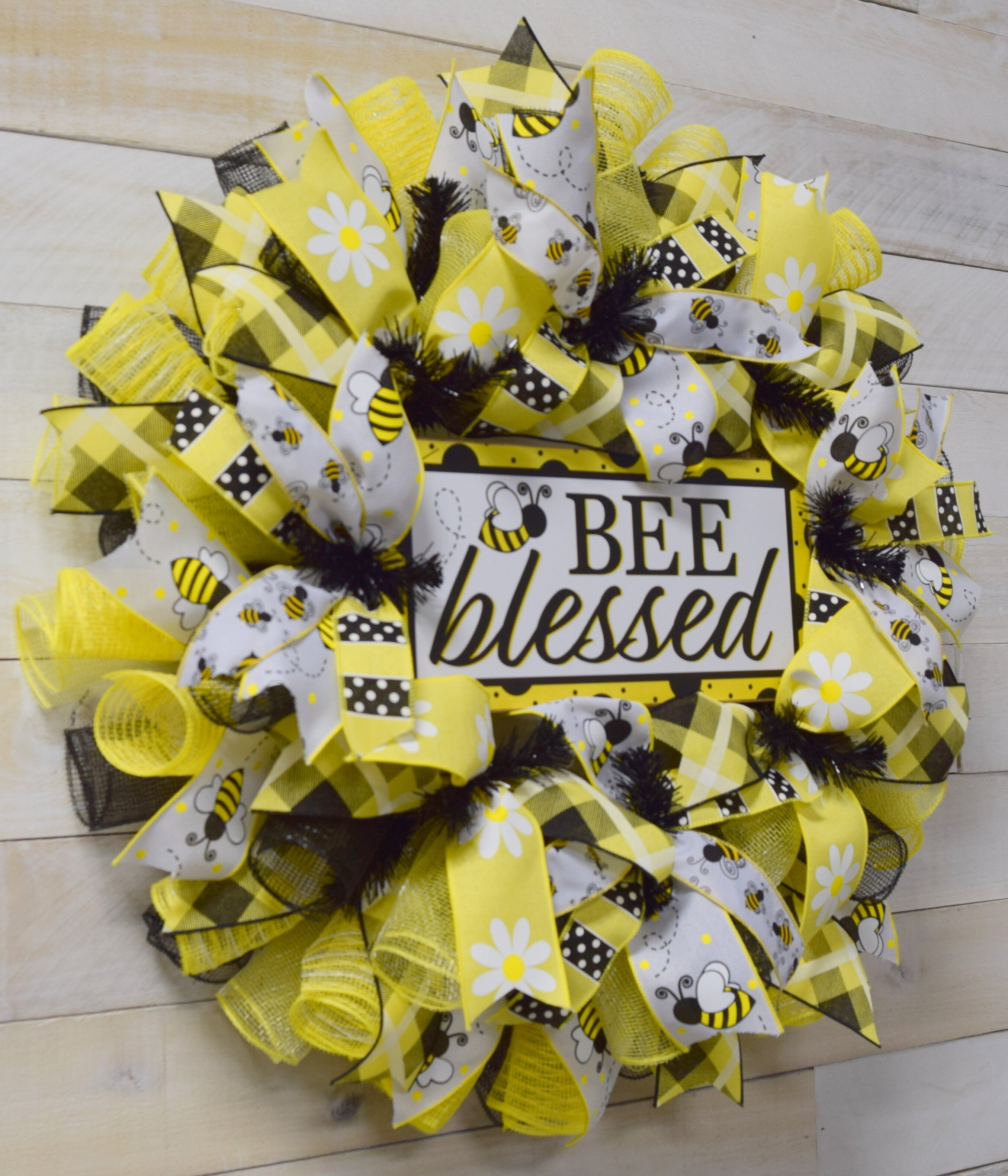 Gracie Oaks Bee Blessed 24 Polyester Wreath Wayfair