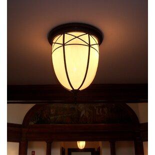 Meyda Tiffany Borough Hall 2-Light Flush Mount