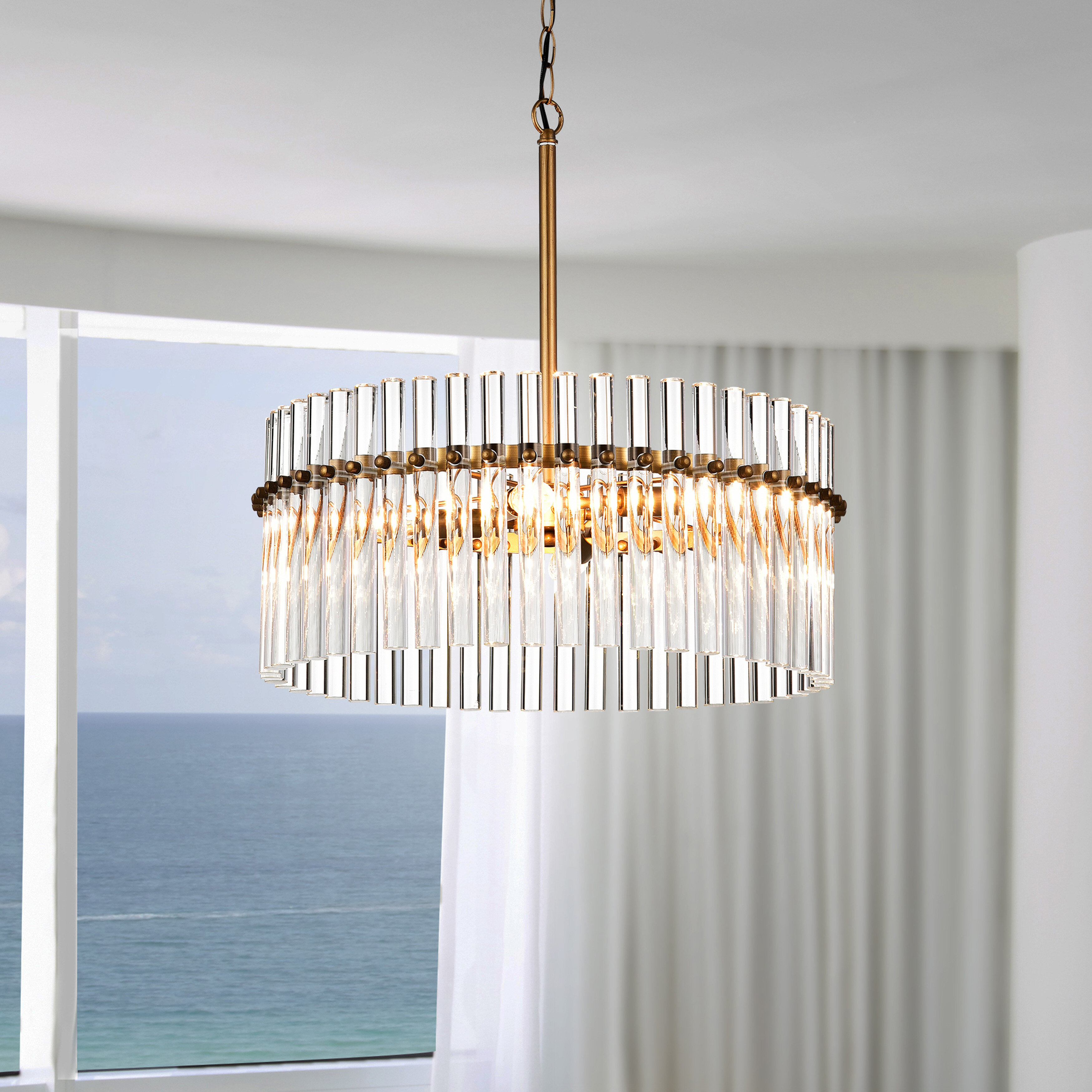 Mercer41 Neva 4 Light Candle Style Drum Chandelier With Accents Reviews Wayfair