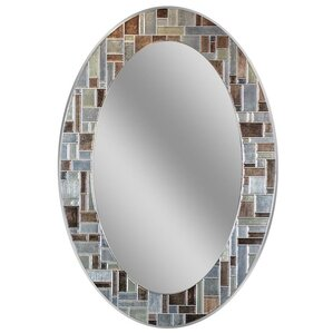 Wonderful Serenity Oval Deep Engravings Accent Wall Mirror