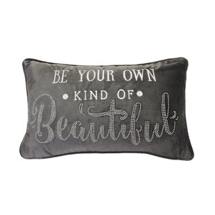 Broadbent Be Your Own Kind of Beautiful Studded Velvet Lumbar Pillow