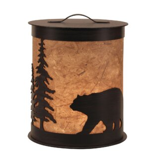 Coast Lamp Mfg. Kodiak Bear and Feather Tree Accent Night Light