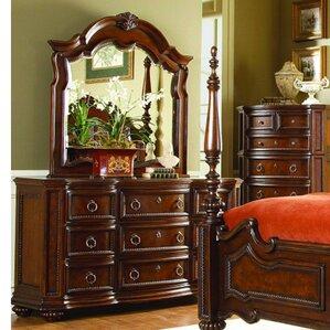 Ellsworth 9 Drawer Dresser with Mirror by Astoria Grand