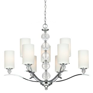 House of Hampton Astoria 9-Light Shaded Chandelier