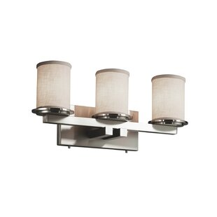 Ebern Designs Favela 3 Light Cylinder w/ Flat Rim Vanity Light
