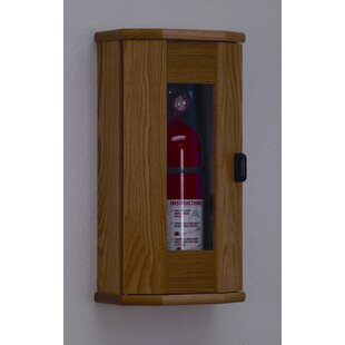 Fire Extinguisher Cabinet with Acrylic Door Panel by Wooden Mallet