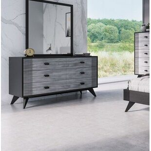 Find a Donham 6 Drawer Double Dresser with Mirror by Ivy Bronx