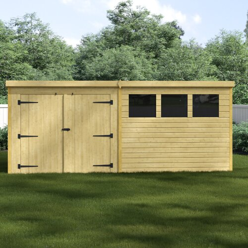 12 Ft. W x 8 Ft. D Tongue and Groove Garden Shed WFX Utility