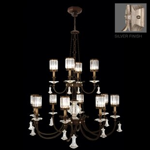 Eaton Place 12-Light Shaded Chandelier By Fine Art Lamps