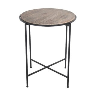 Dermott Reclaimed Wood Metal End Table by Williston Forge