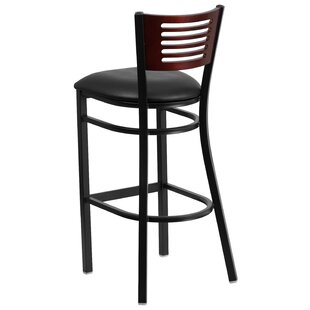 Chafin Slat Back Metal 32 Bar Stool by Winston Porter