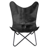 Andre Natural Leather Butterfly Chair by Foundstone